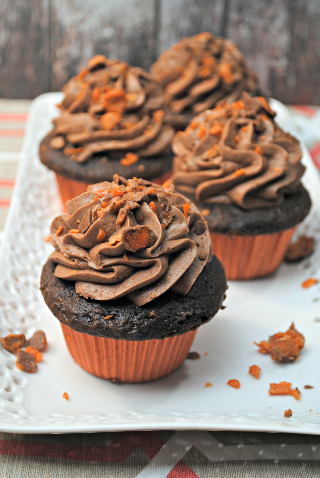Recipe – Butterfinger Cupcakes