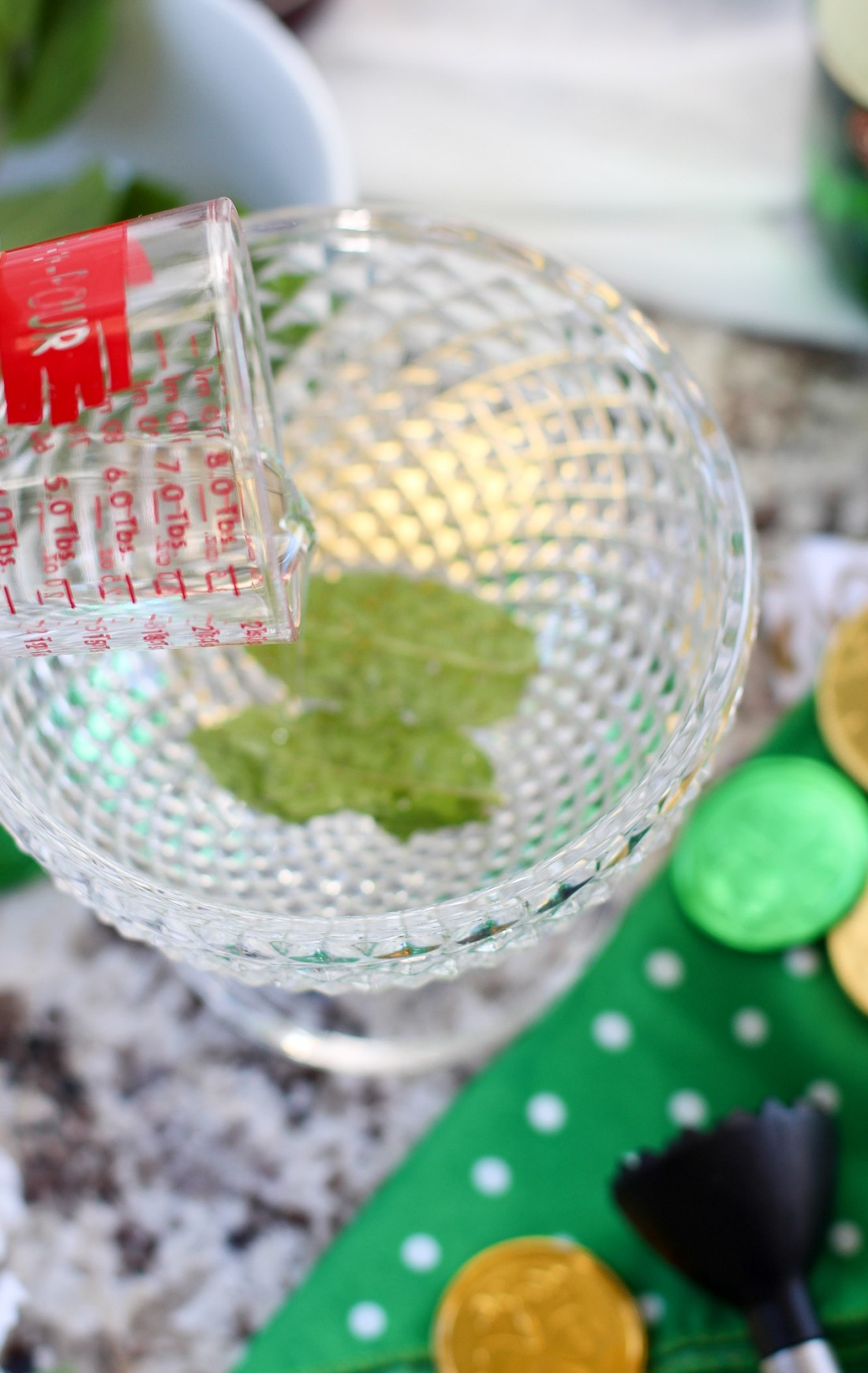 St. Patrick's Day Mint Julep Cocktail