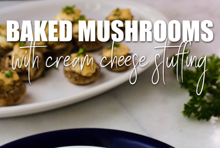 Baked Mushrooms With Cream Cheese Stuffing
