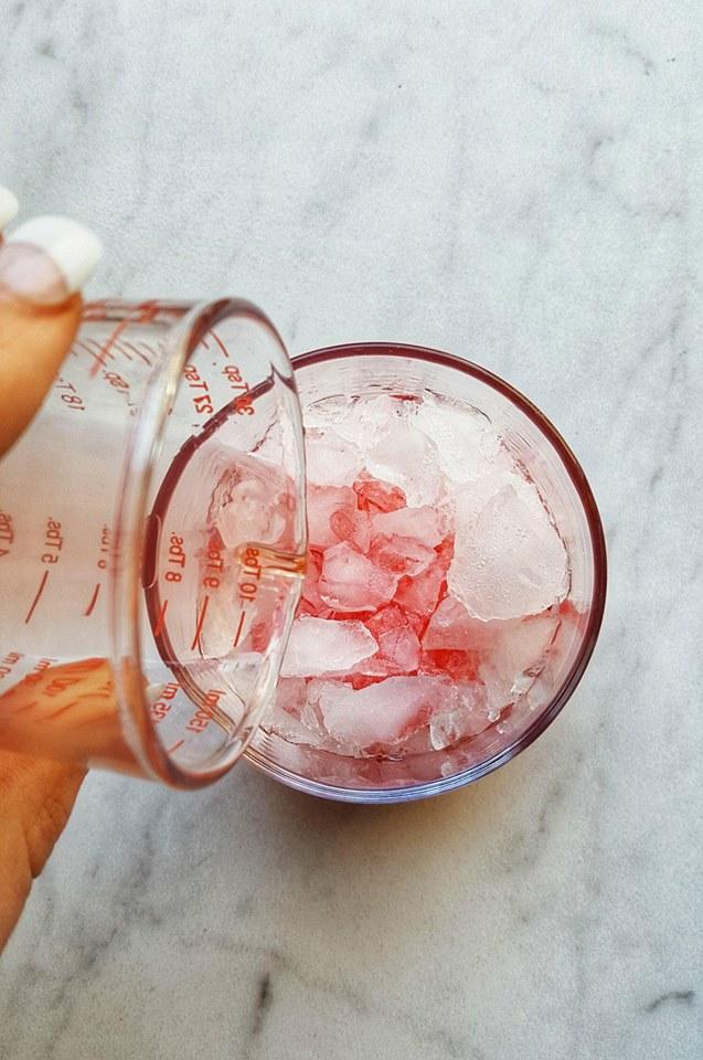 Red Mermaid Lemon Drop Summer Cocktail