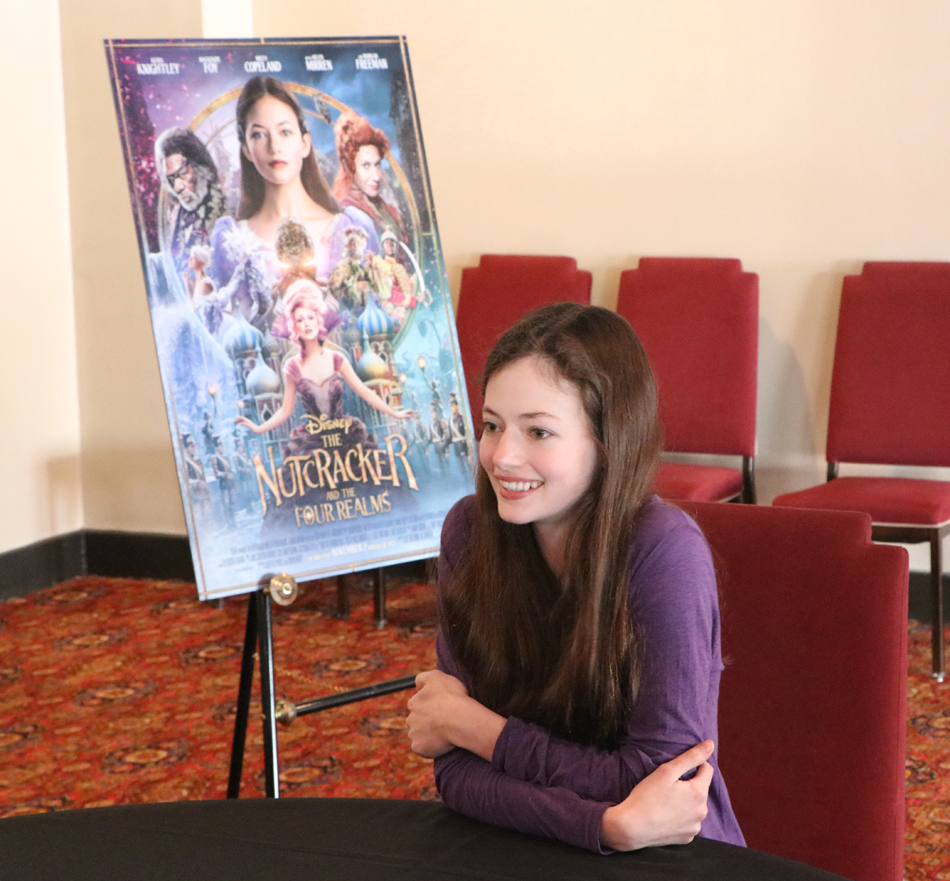 Mackenzie Foy Talks About Her Role As Clara In Disney's The Nutcracker And The Four Realms