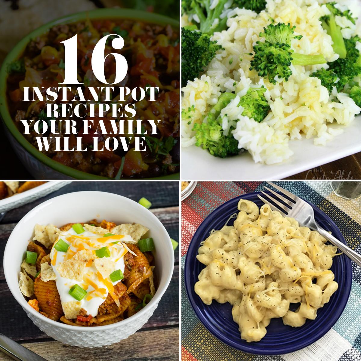 16 Family Friendly Instant Pot Recipes