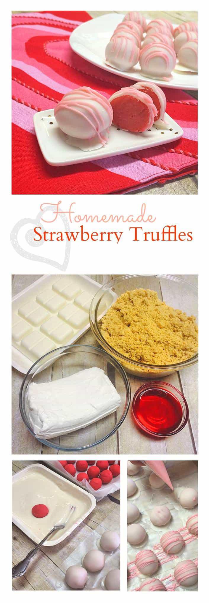 Homemade Pink Strawberry Bon-bon Truffles