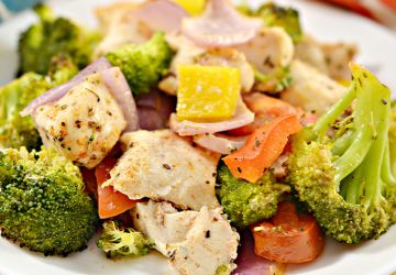15 minutes healthy roasted chicken and veggies og
