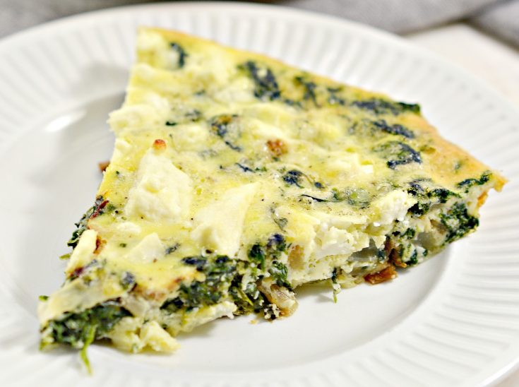 crustless spinach onion and feta quiche og