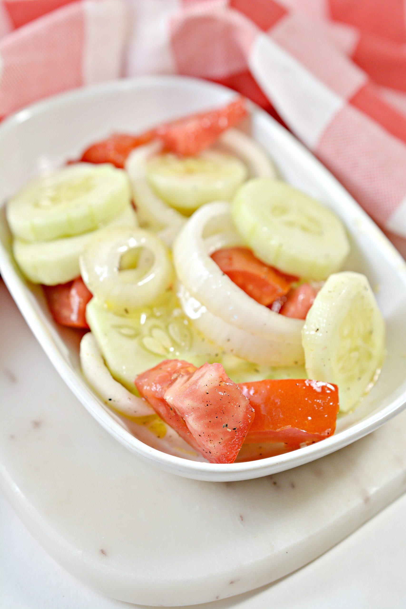 cucumber onion and tomato salad 2