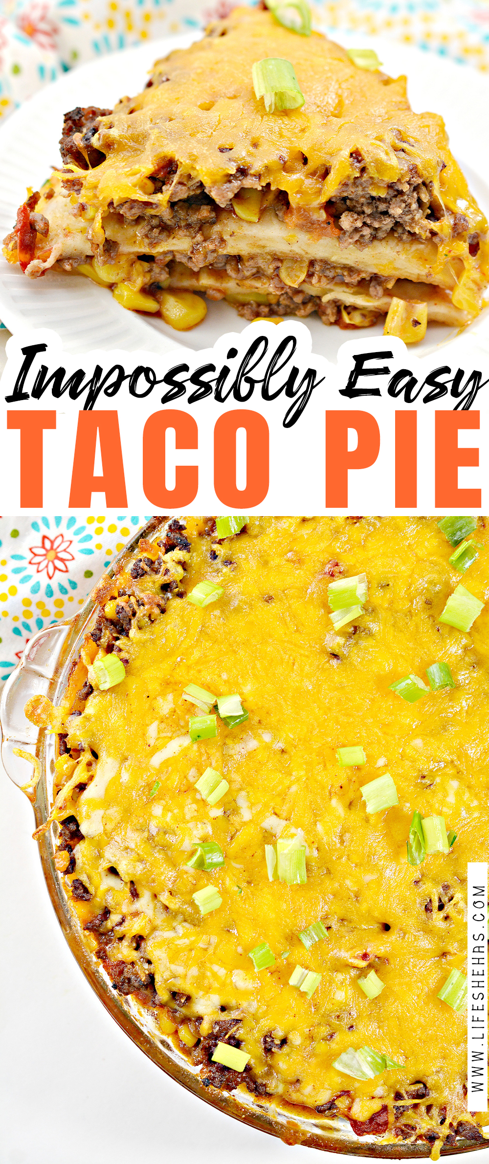 impossibly easy taco pie pin