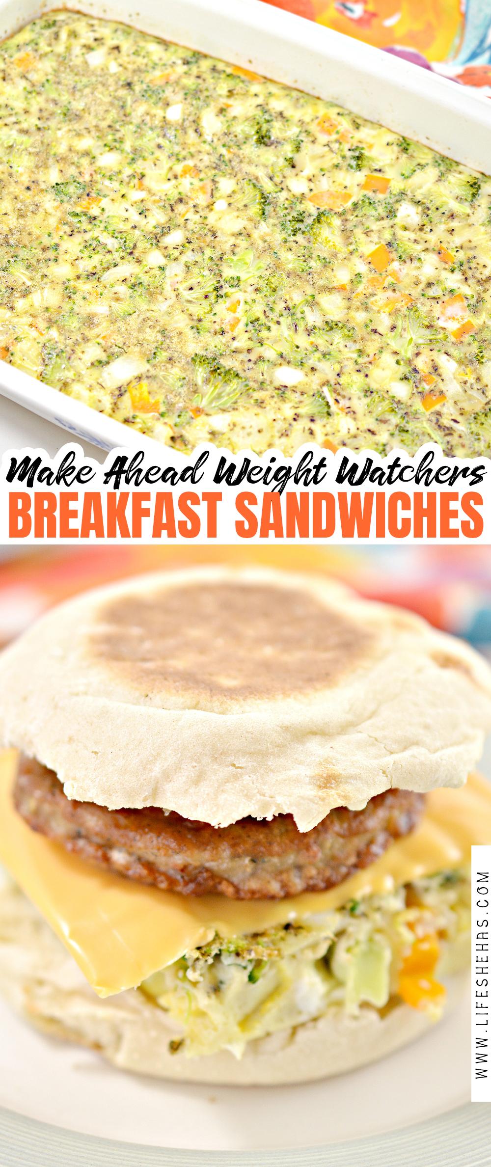 make ahead weight watchers breakfast sandwiches