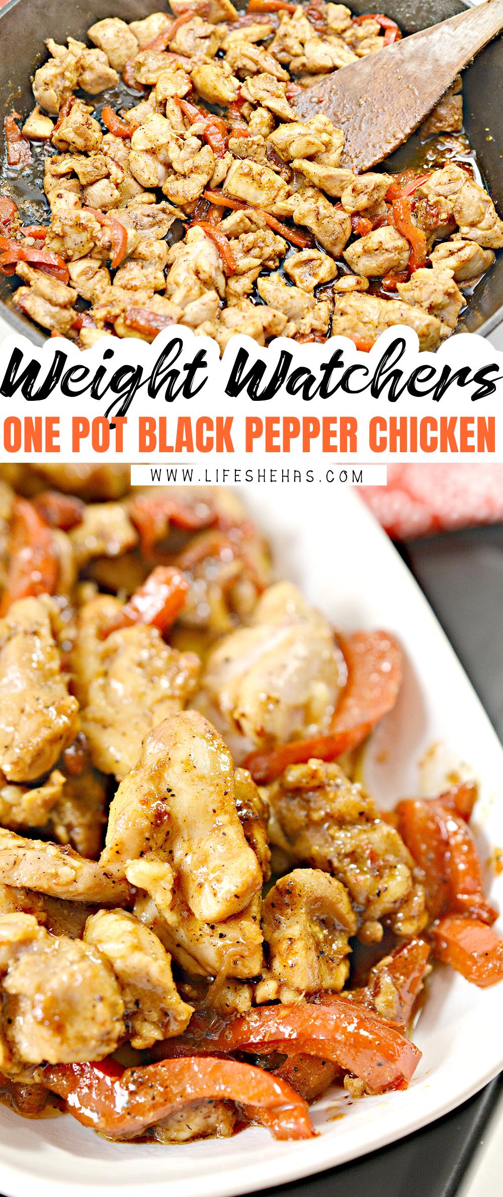 one pot black pepper chicken pin