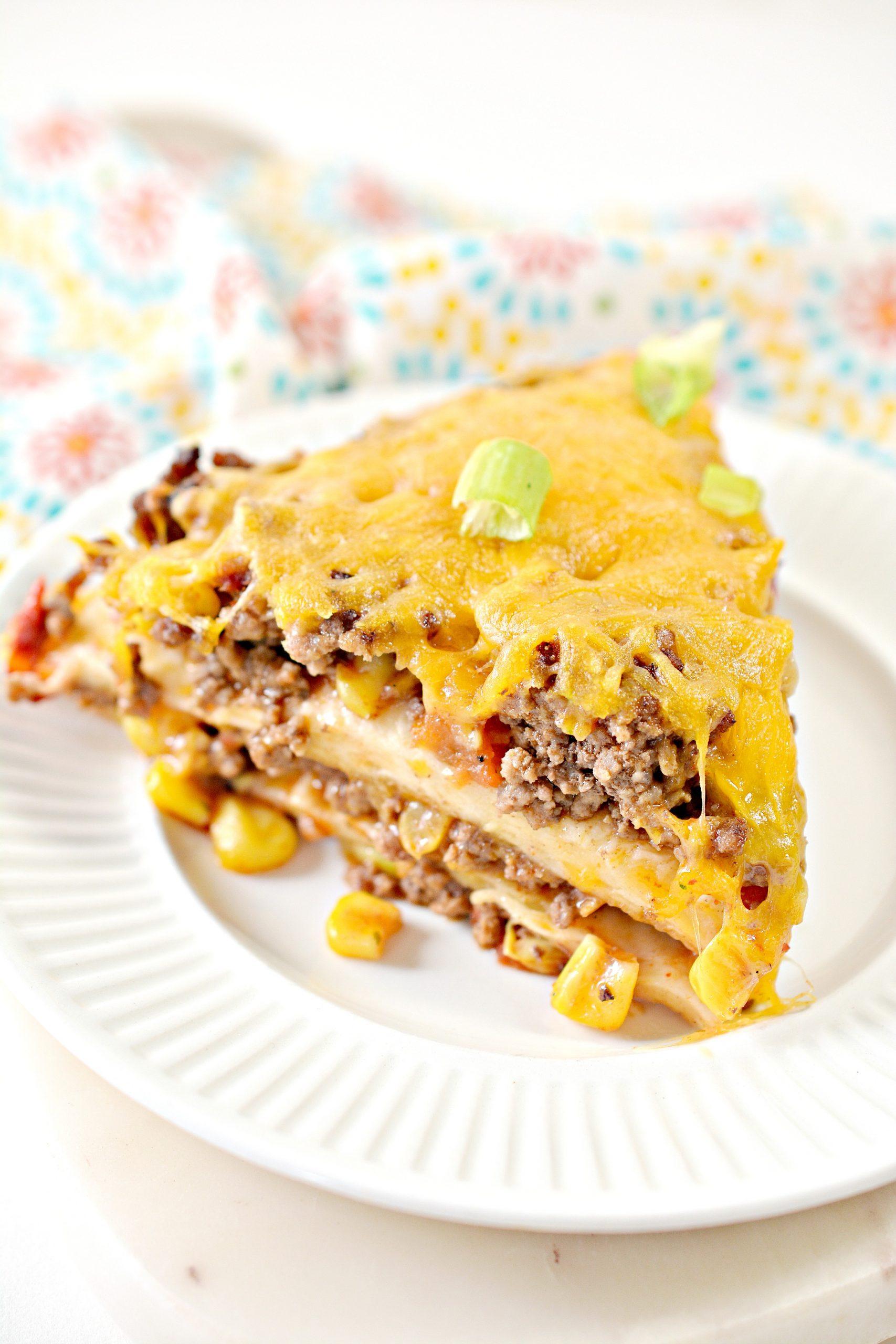 Weight Watchers Friendly Taco Pie