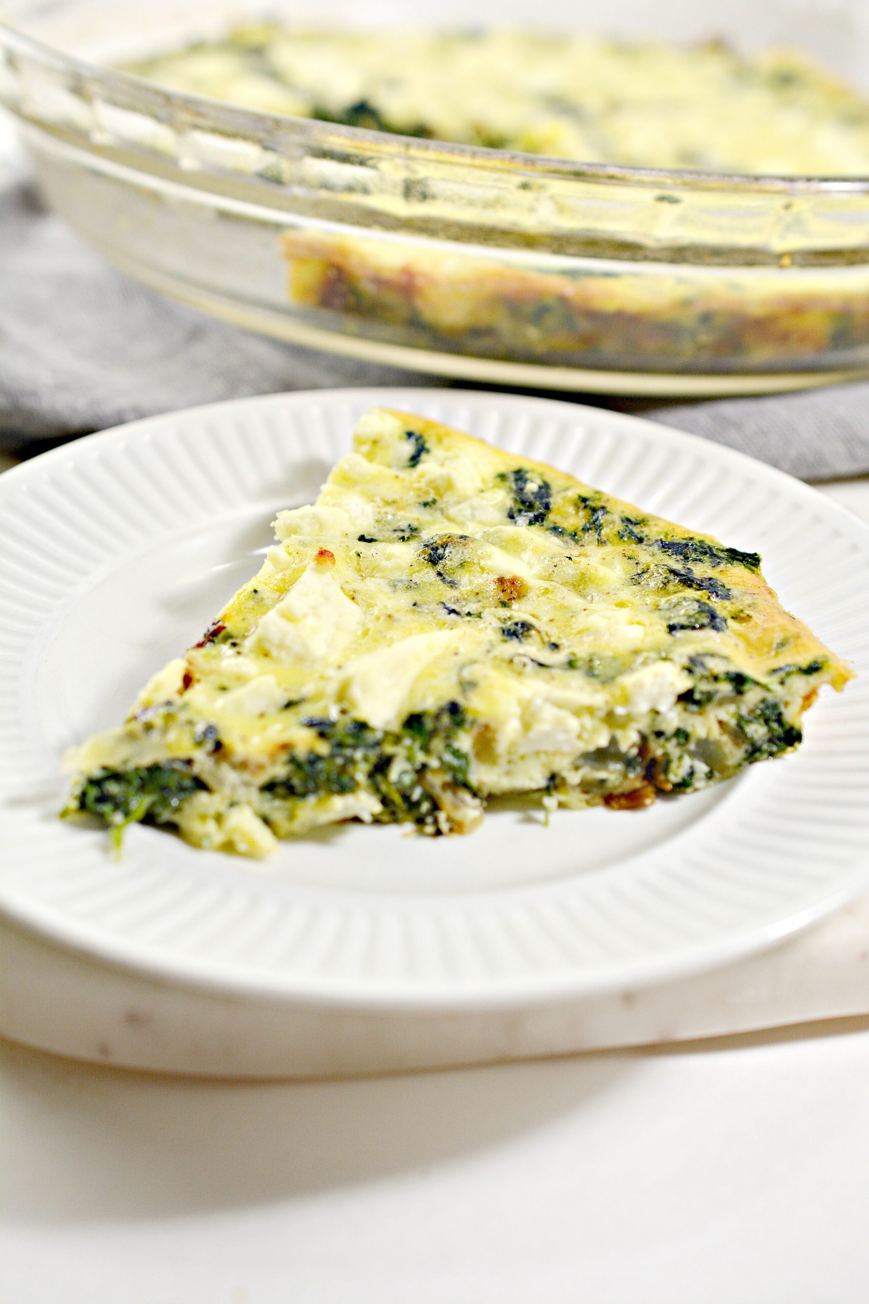 weight watchers crustless spinach onion and feta quiche 1