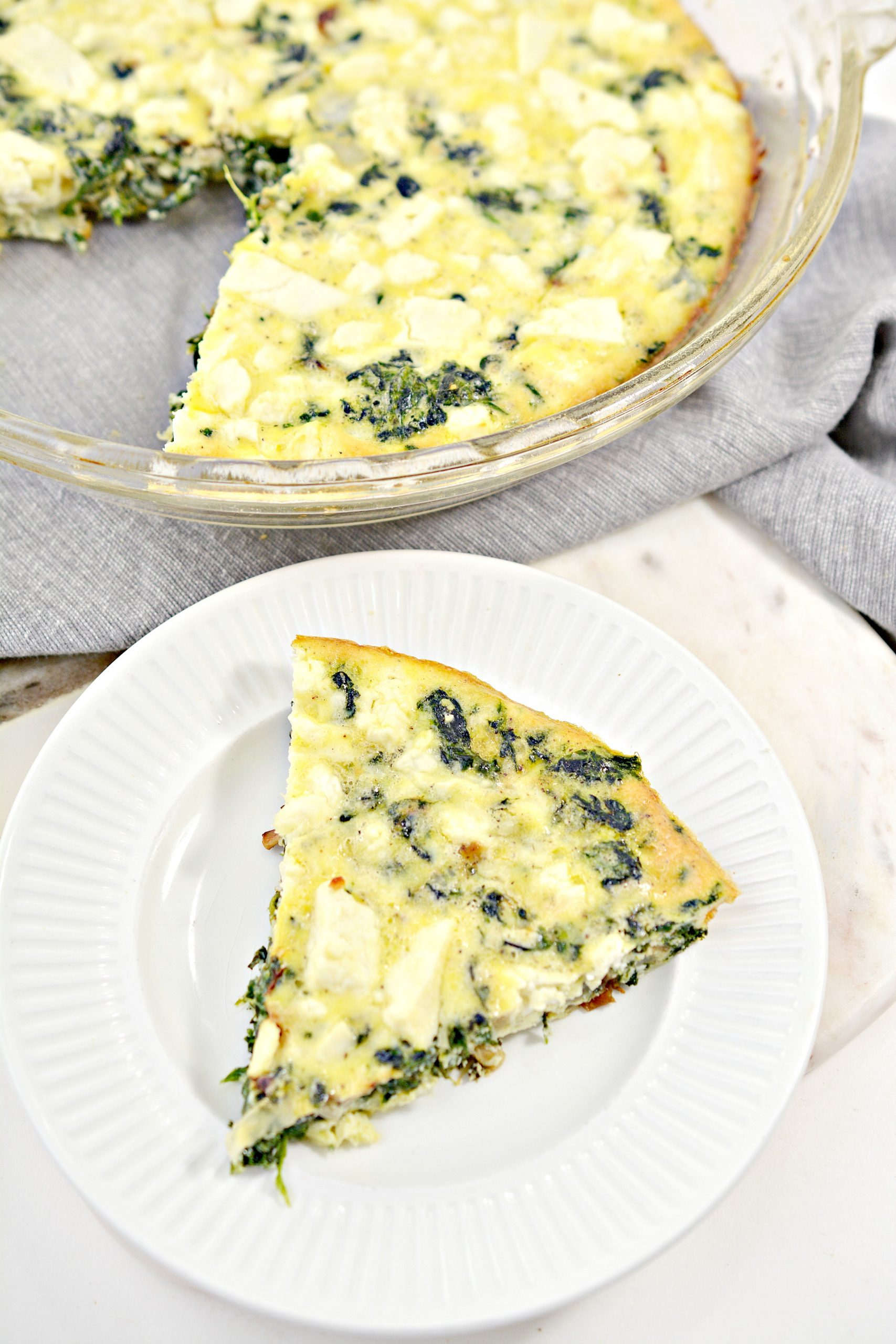 weight watchers crustless spinach onion and feta quiche 3