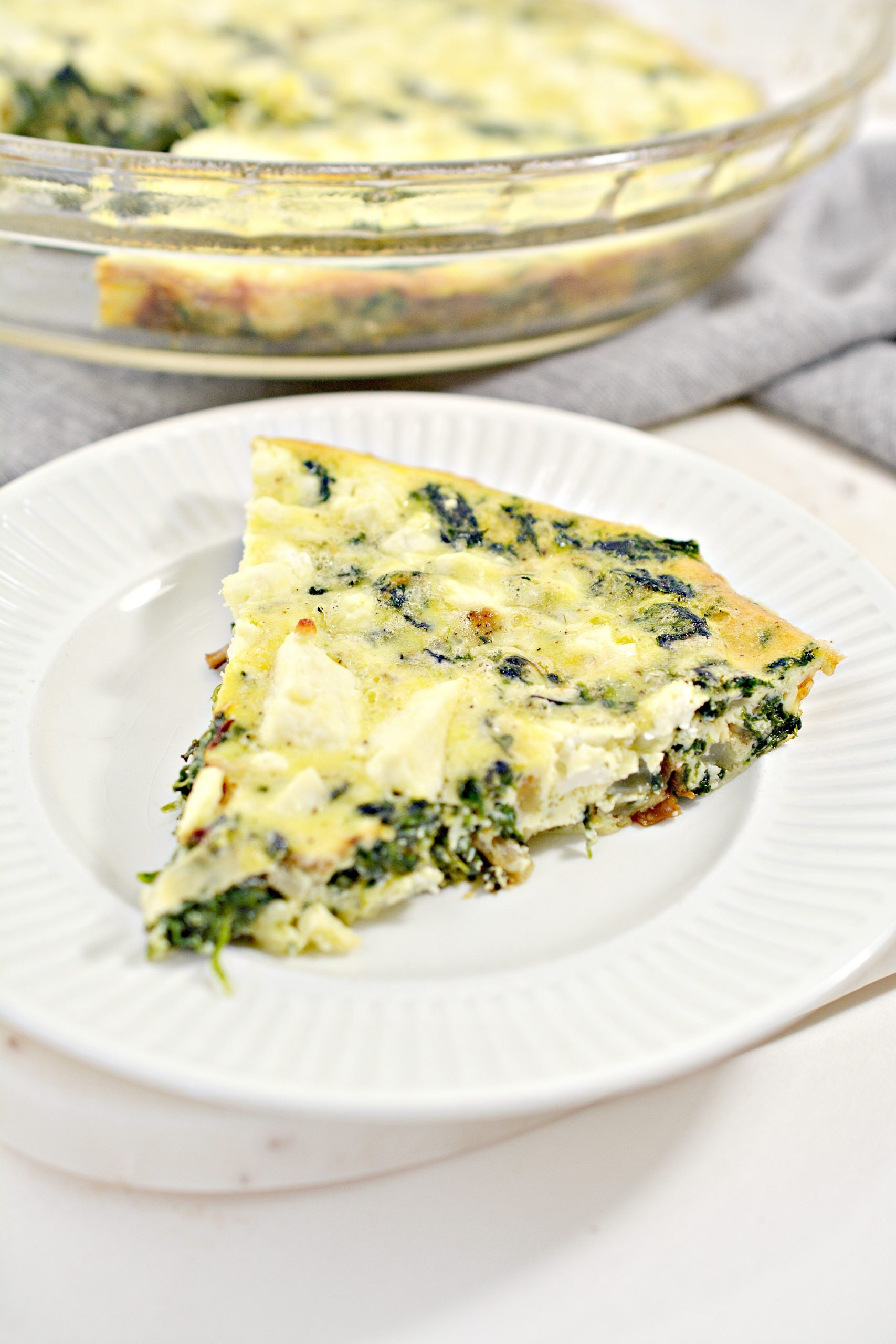 weight watchers crustless spinach onion and feta quiche 4