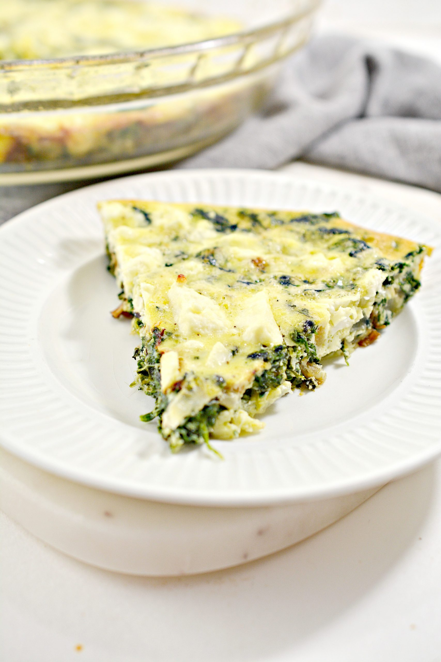 weight watchers crustless spinach onion and feta quiche 5