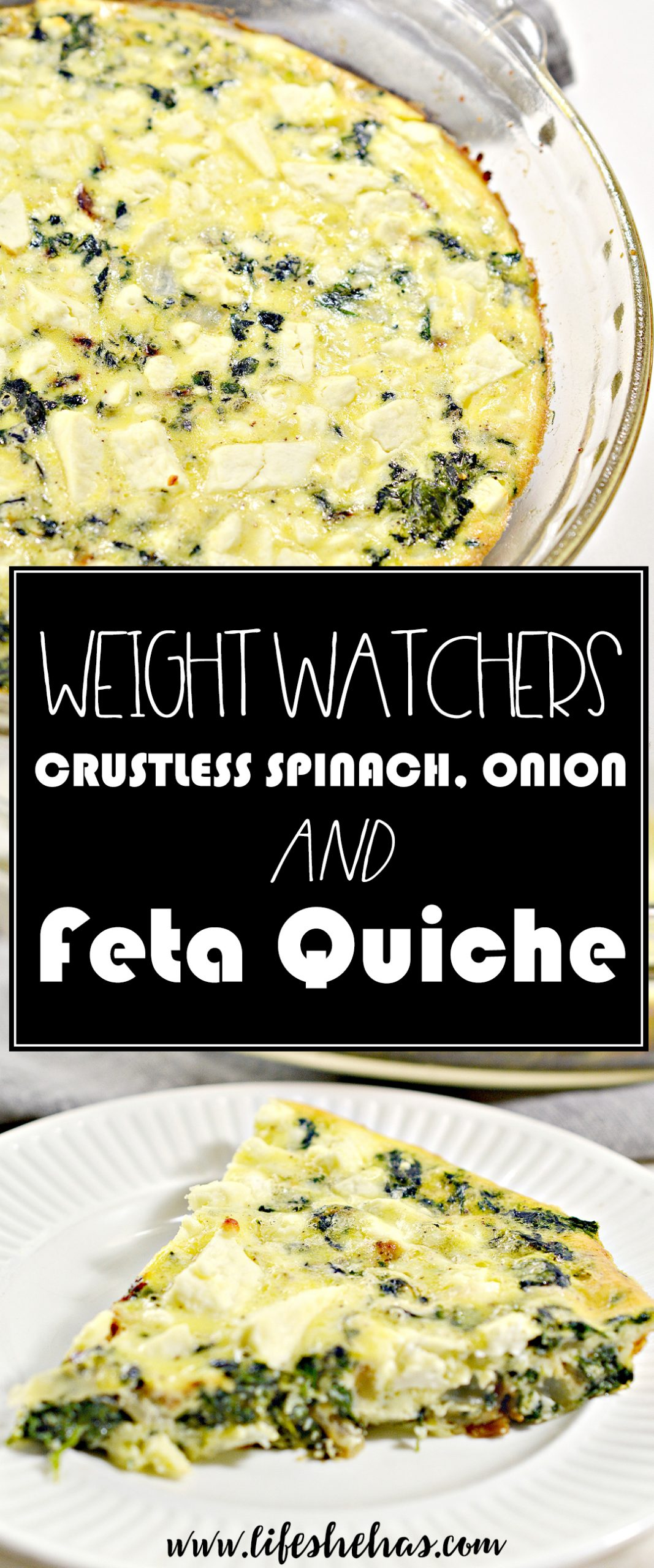 weight watchers crustless spinach onion and feta quiche pin