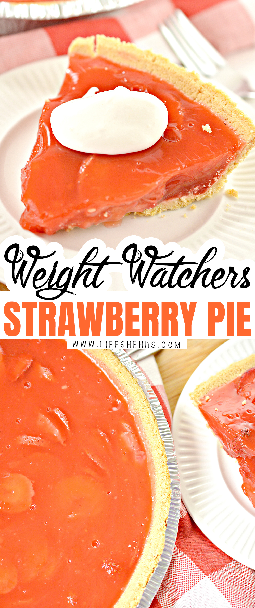 weight watchers strawberry pie recipe pin