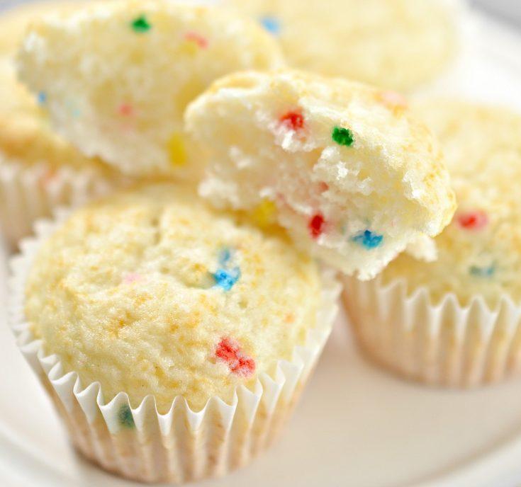 1 point funfetti muffins card
