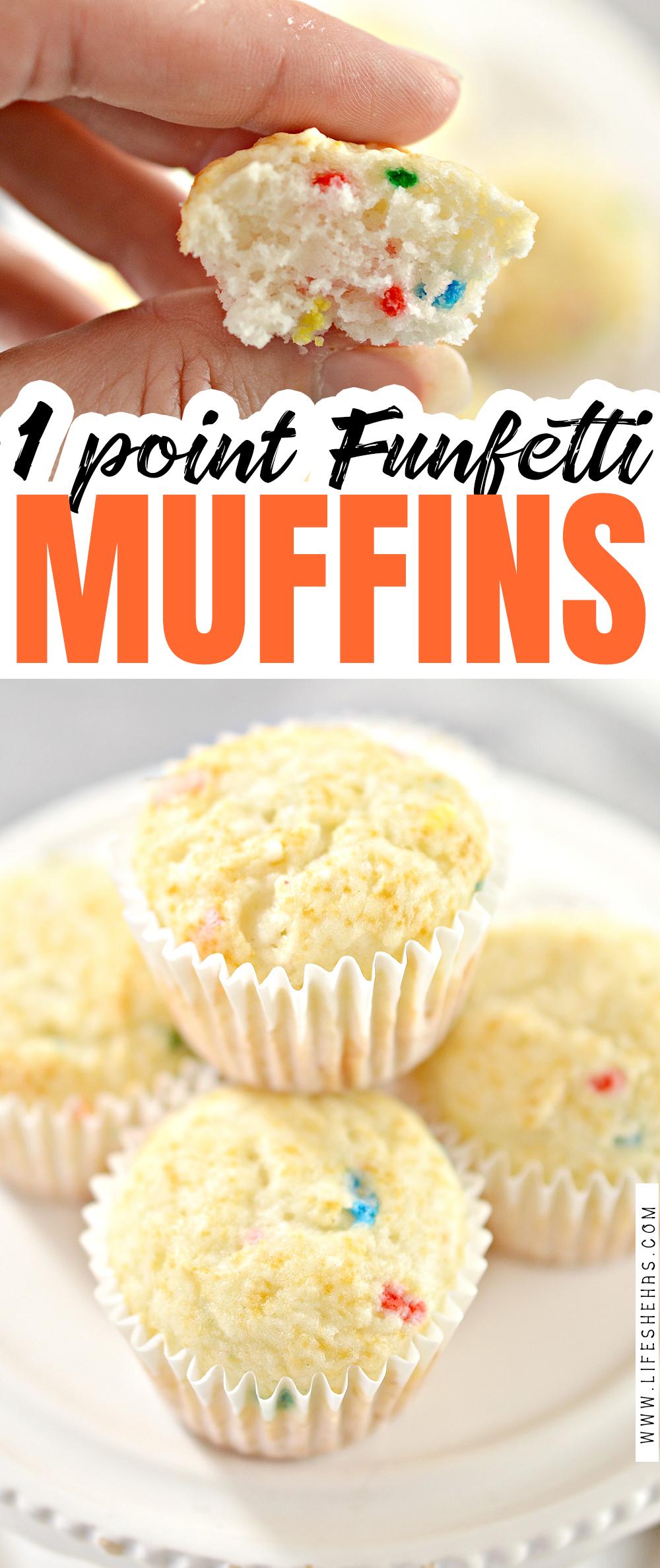 1 point funfetti muffins pin