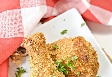 Skinny Buttermilk Oven Fried Chicken
