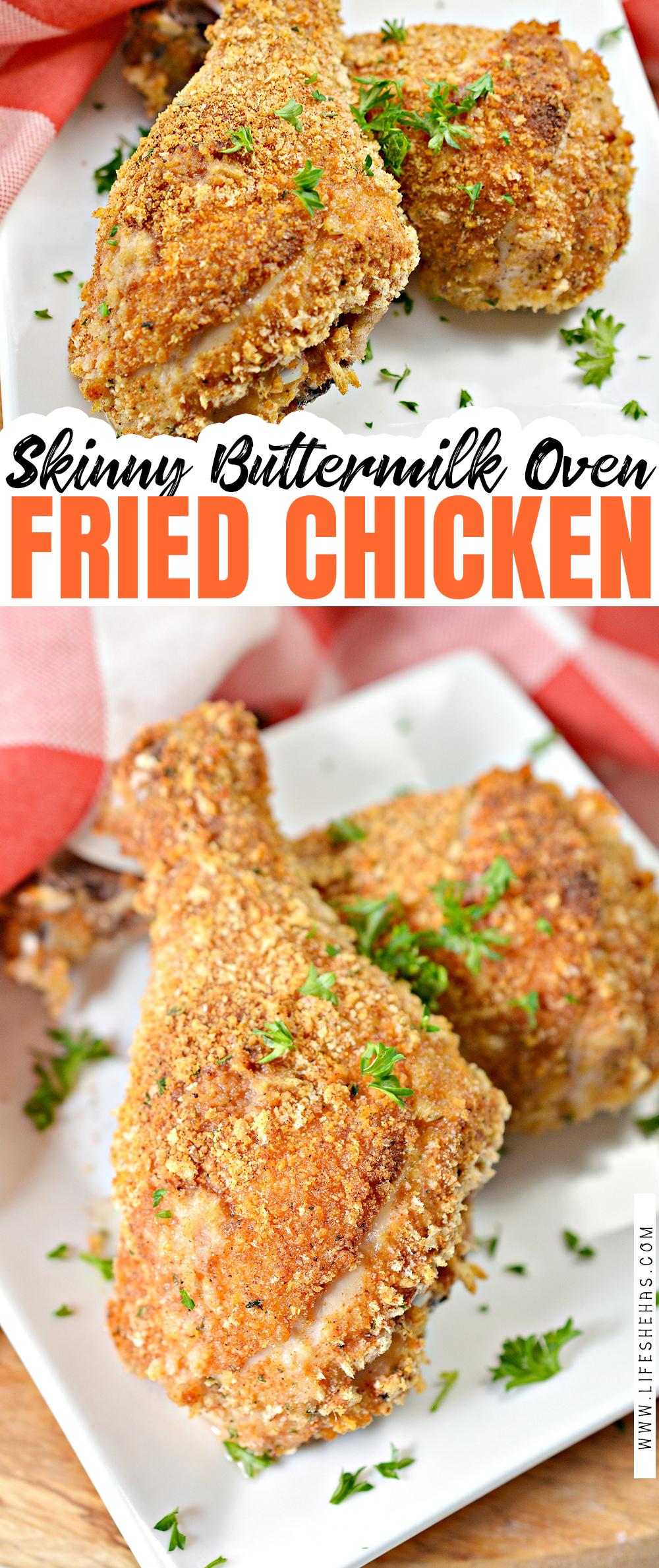 Skinny Buttermilk Oven Fried Chicken