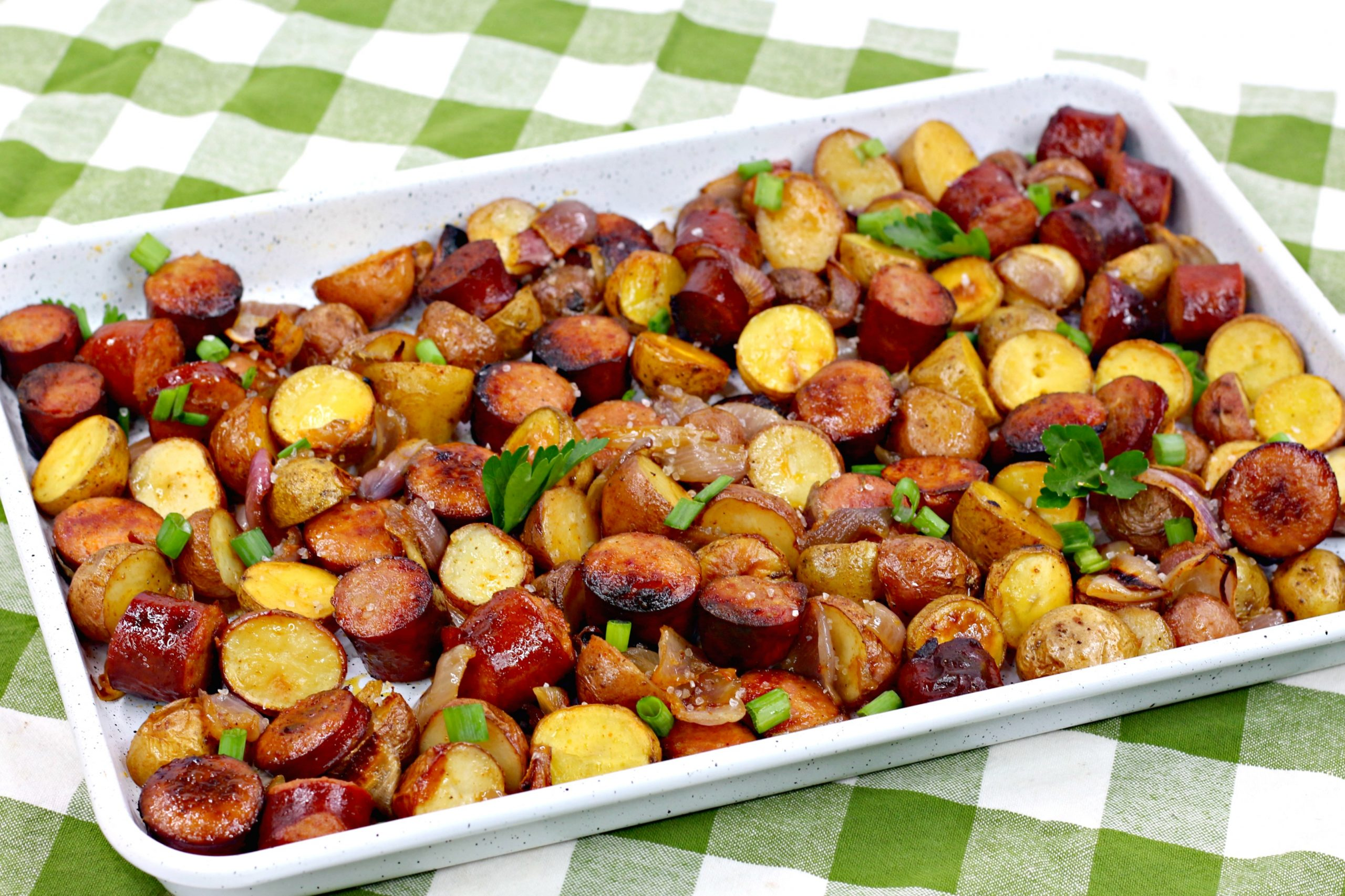 oven roasted sausage potatoes 7