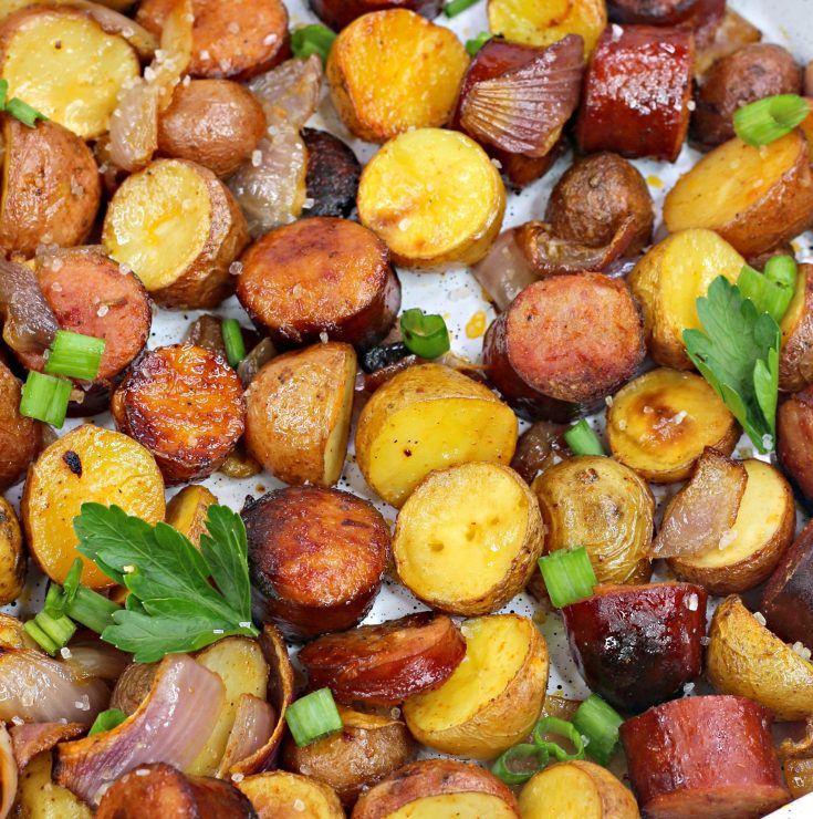 oven roasted sausage potatoes card