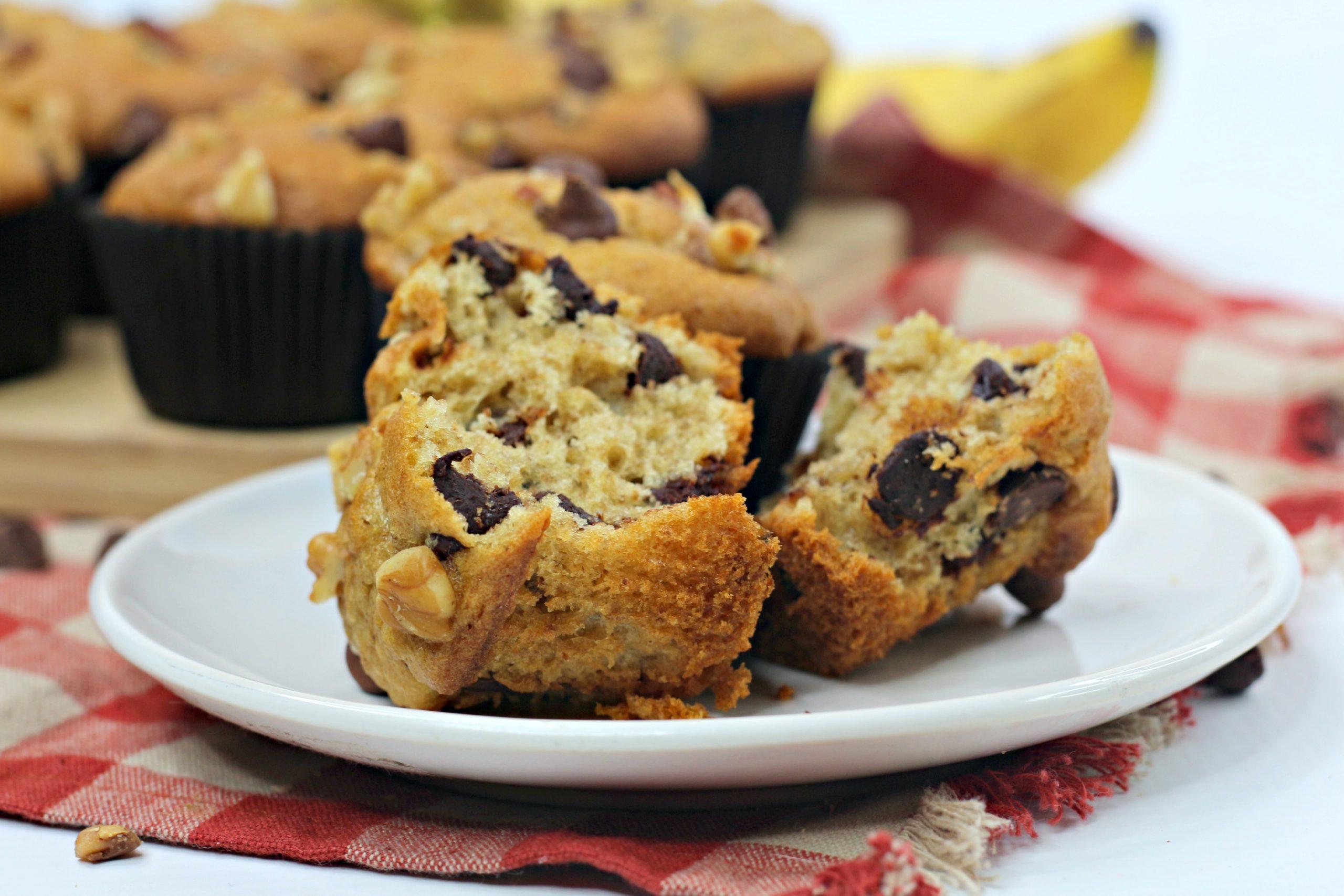 ww banana chocolate chip muffins 1