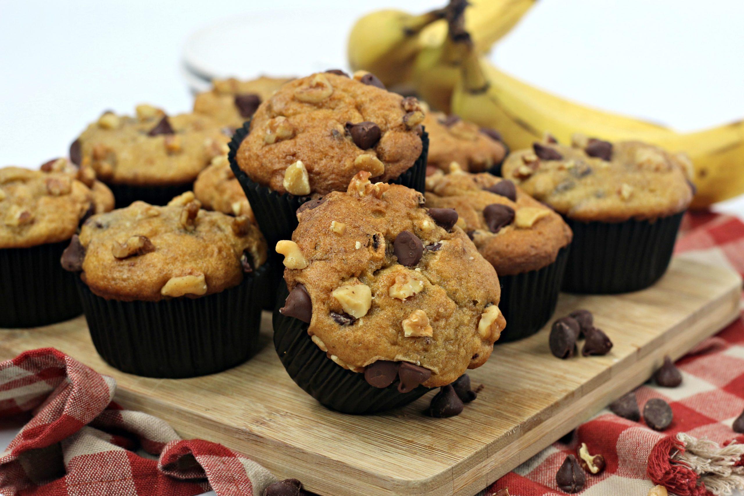 ww banana chocolate chip muffins 3