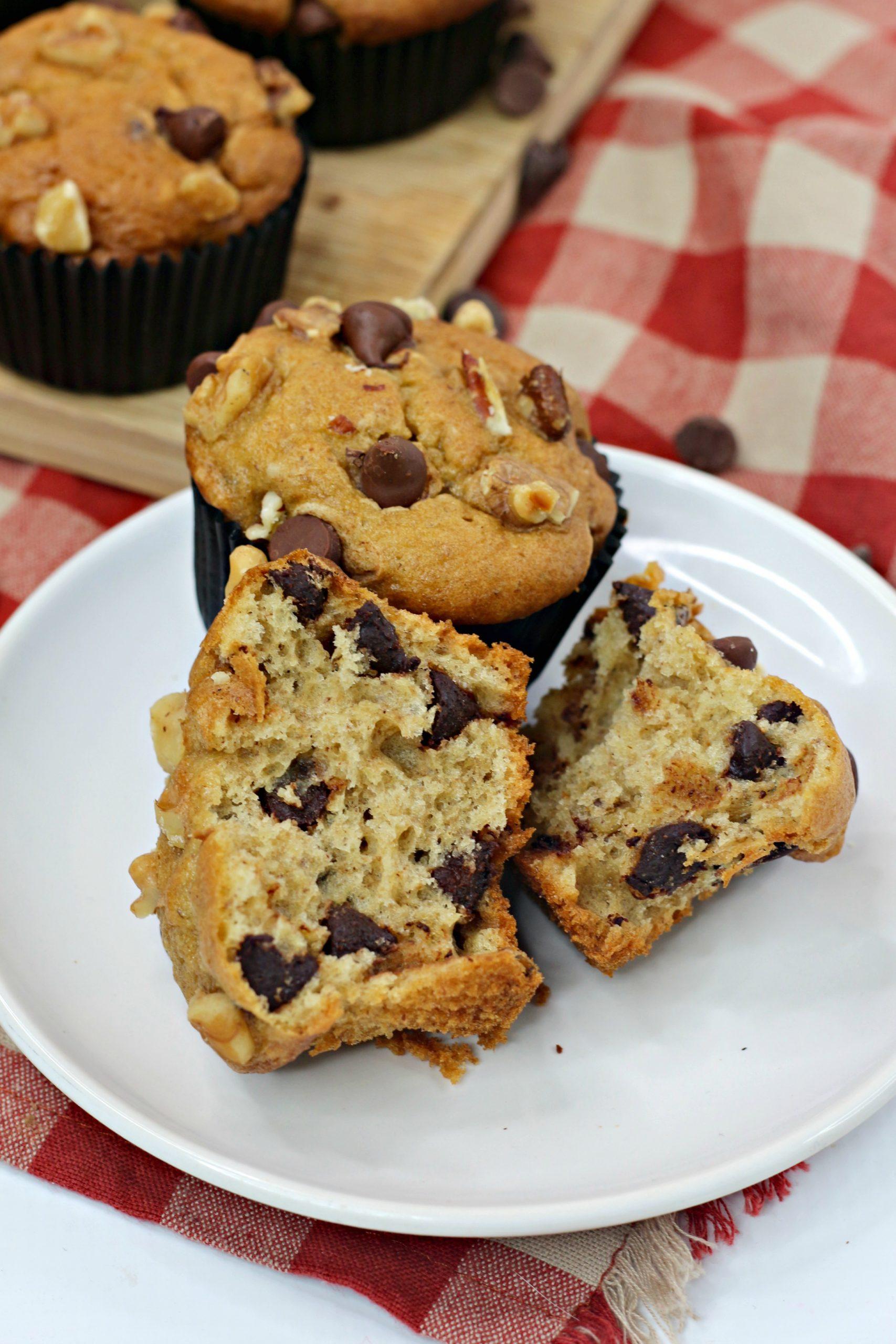 ww banana chocolate chip muffins 5