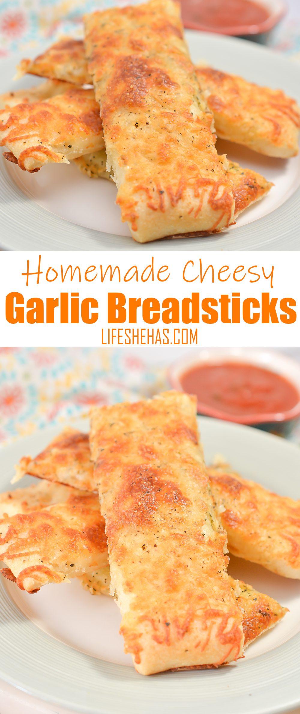 homemade cheesy garlic breadsticks pinterest pin template
