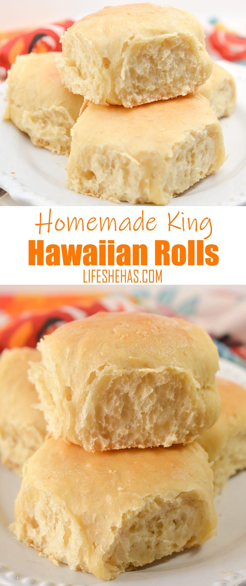 homemade king hawaiian rolls pinterest pin template