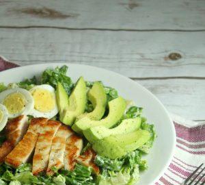 avocado chicken caesar salad 4