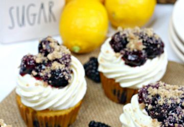blackberry lemon cupcakes 3