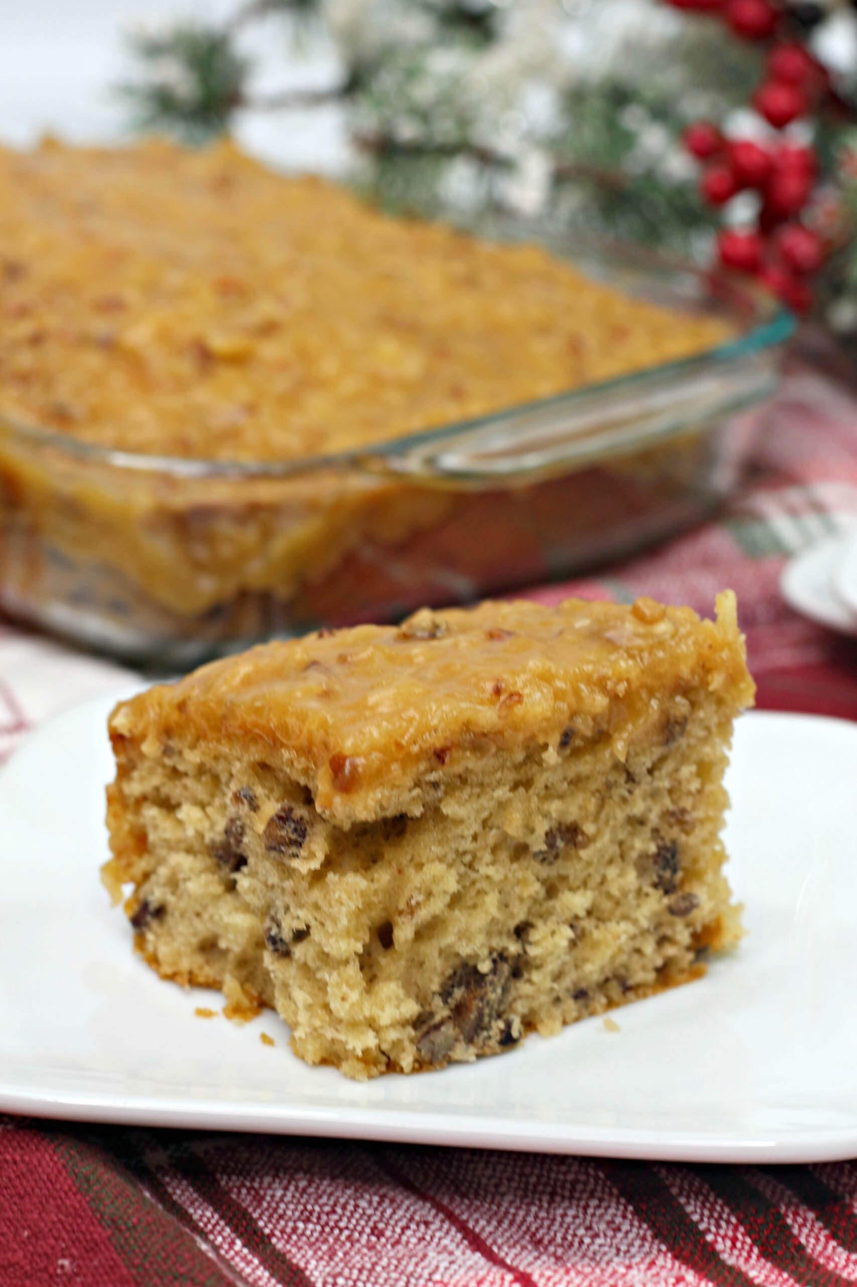 butter pecan sheet cake 2